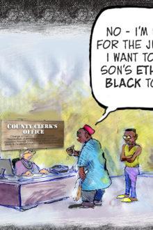 West African Pilot News Editorial Cartoon