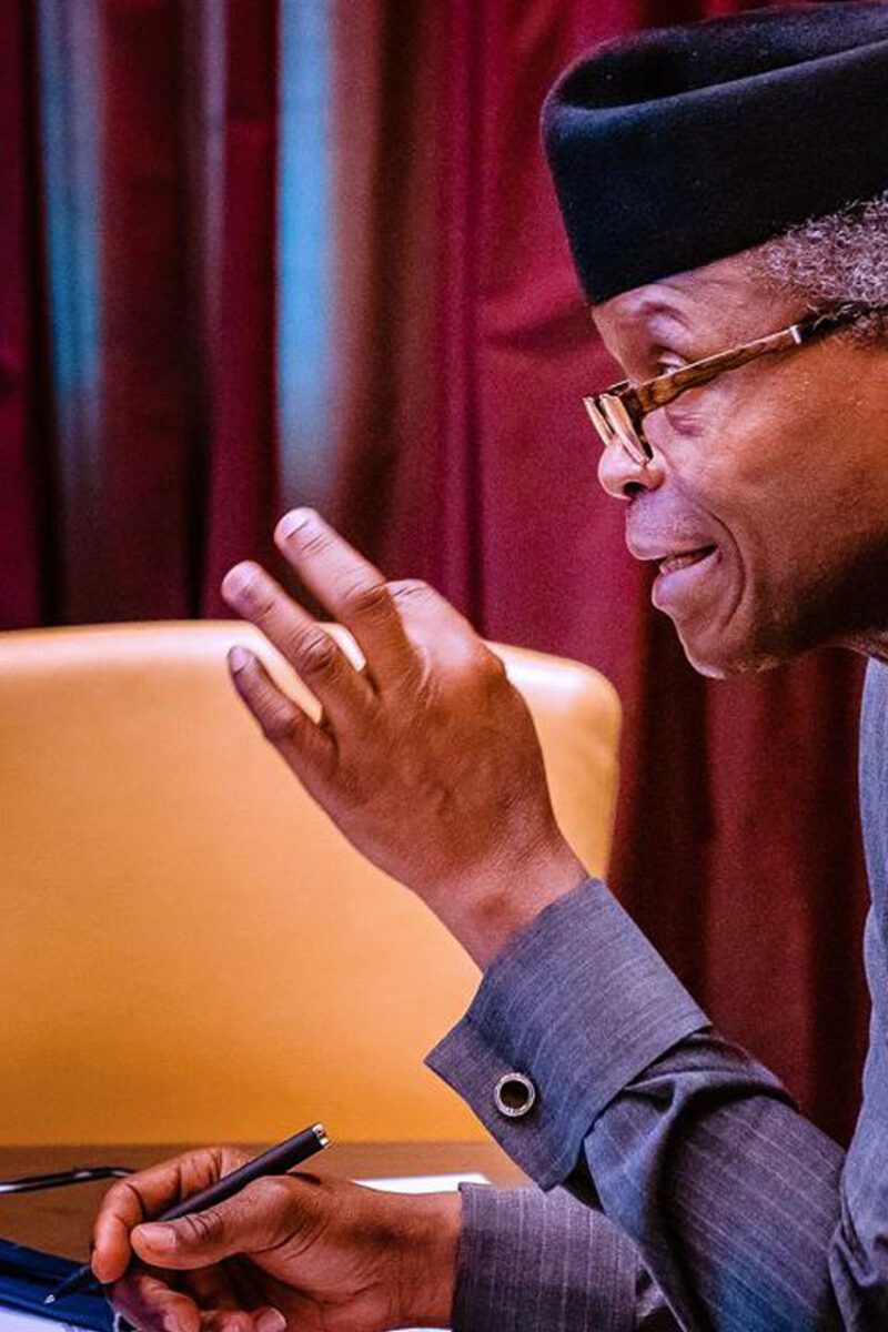 We Could've Moved Faster and For This We Are Sorry – Osinbajo Begs Nigerian Youth