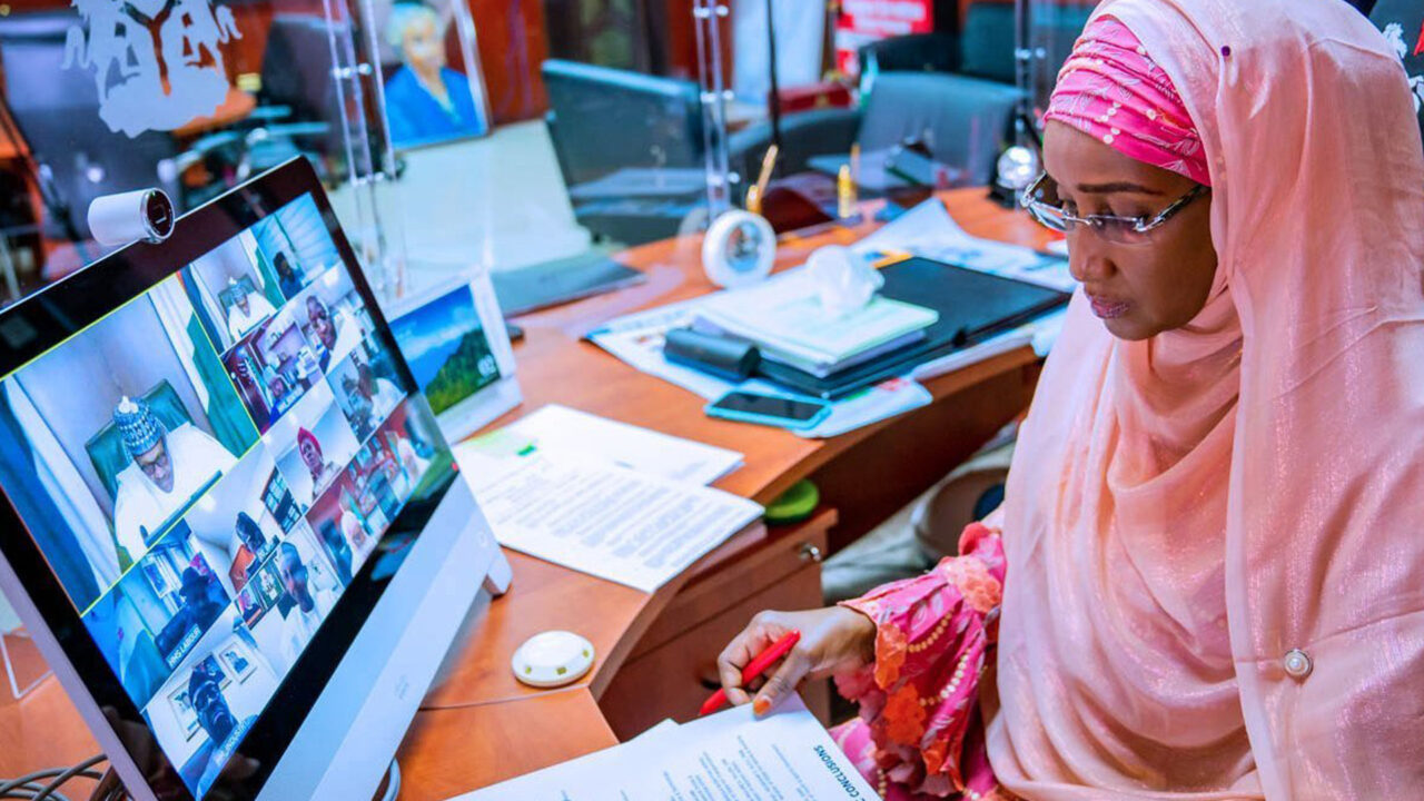 https://www.westafricanpilotnews.com/wp-content/uploads/2021/02/Minister-Sadiya-Umar-Farouq-Virtual-Meeting-Buhari-2-18-21-1280x720.jpg