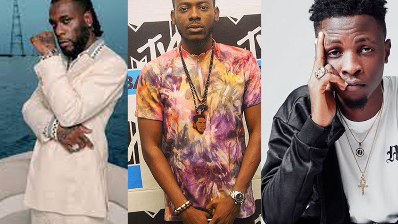 Burnaboy, Adekunle Gold, Laycon, Others Rated 5 Most Played