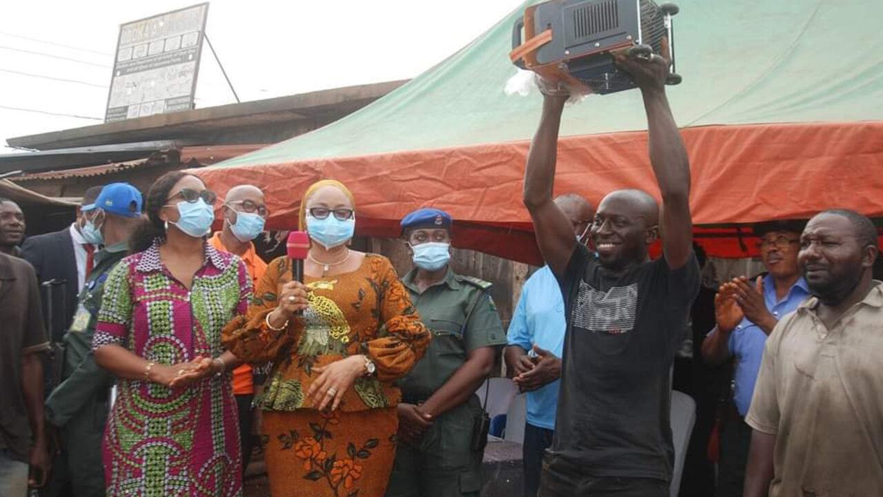 https://www.westafricanpilotnews.com/wp-content/uploads/2021/06/Welders-Mrs-Ezeilo-Deputy-Governor-and-a-beneficiary-of-the-Welding-machine_6-10-21-1280x720.jpg