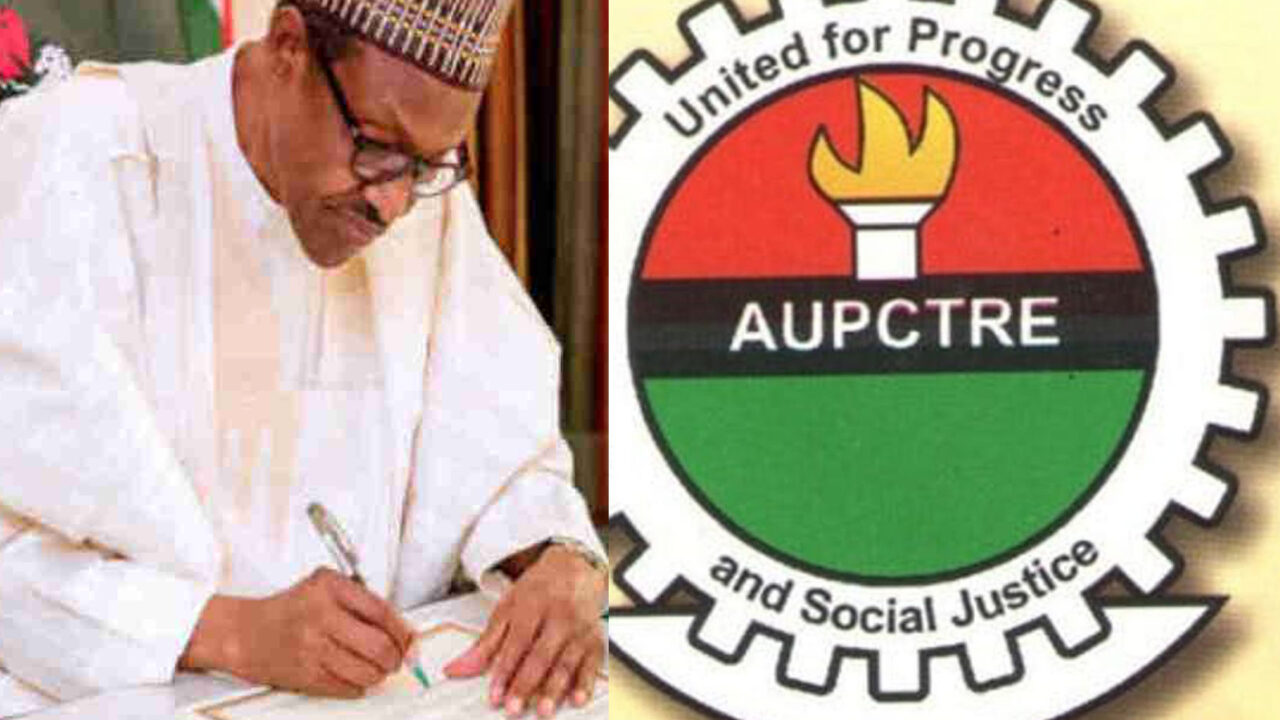 https://www.westafricanpilotnews.com/wp-content/uploads/2021/10/AUPCTRE-Logo-Buhari-composite-1280x720.jpg