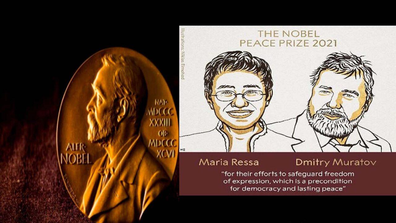 https://www.westafricanpilotnews.com/wp-content/uploads/2021/10/Nobel-Prize-for-Peace-2021-winners-Maria-Ressa-and-Dmitry-Muratov-illustration-1280x720.jpg